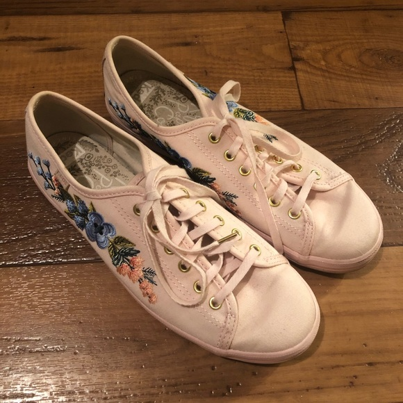 Pink Keds Embroidered